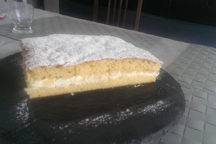 Gâteau aux citrons au coeur de mascarpone à la pomme