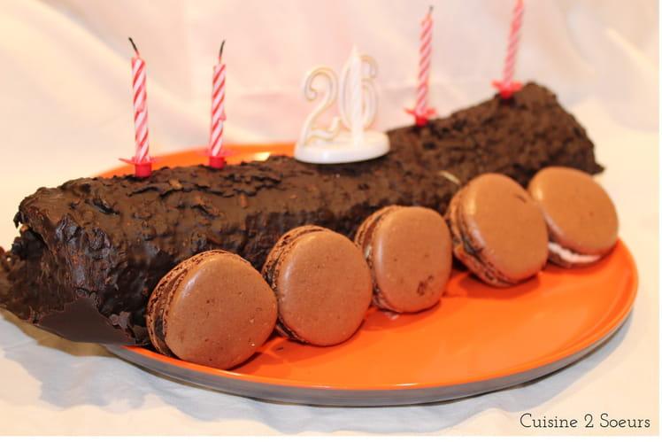 Gâteau roulé vanille façon rocher