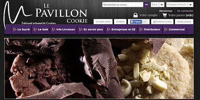 site internet du pavillon cookie
