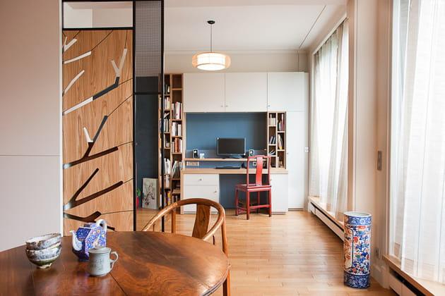Petit loft zen : espace changeant
