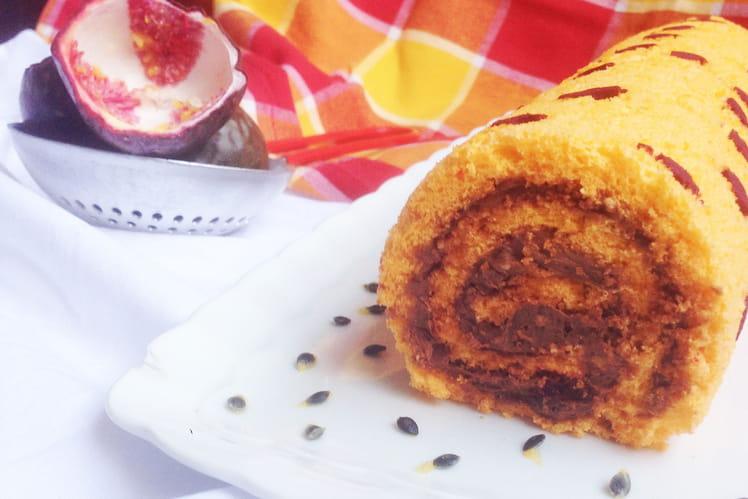 Gâteau roulé passion façon Mogador