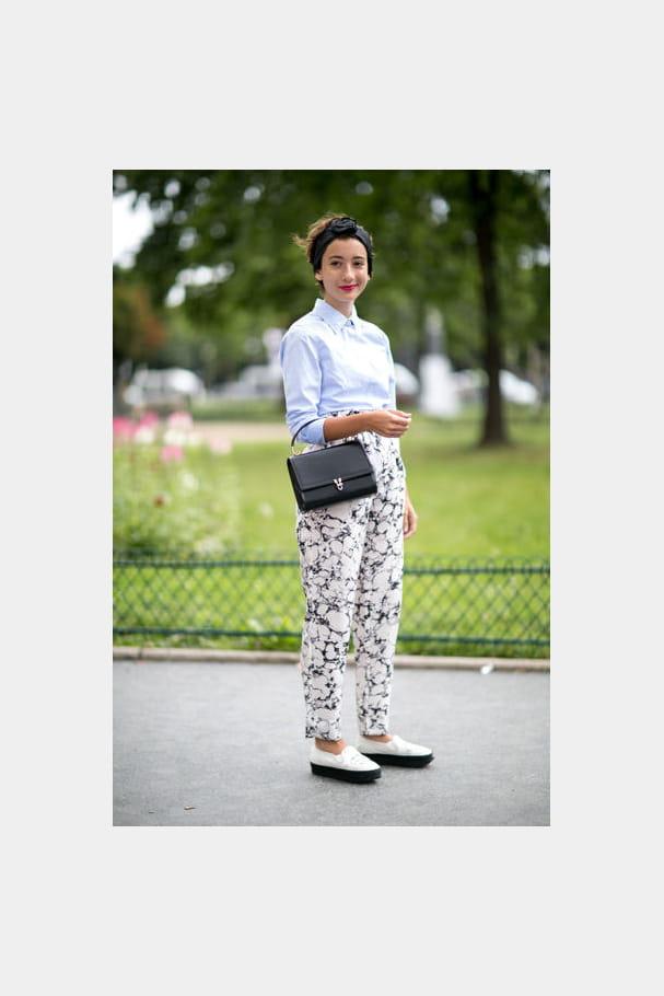 Street looks fashion week haute couture : preppy