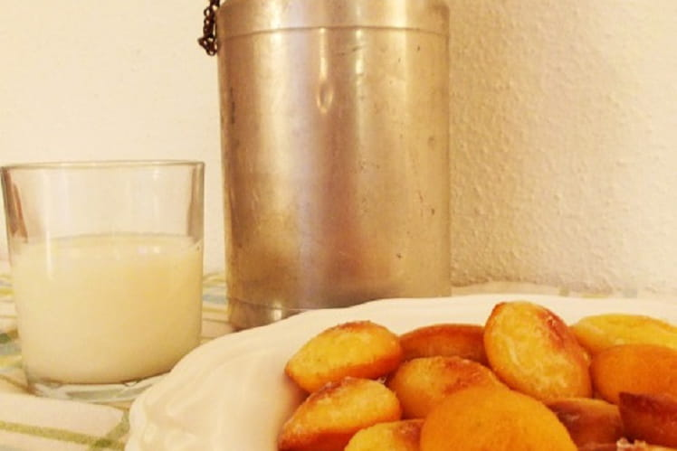 Mini madeleines glacées au citron façon Christophe Michalak