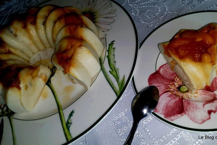 Gâteau de semoule aux pommes et raisins secs