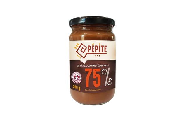 Pâte à tartiner à base de fruits secs (75%) de Pépite