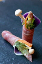 rouleaux de speck aux petits légumes