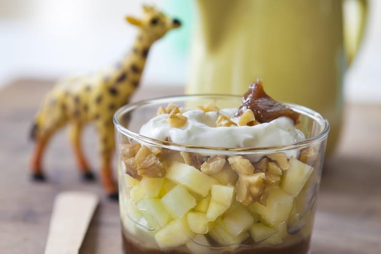 Trifle pomme, noix et châtaigne