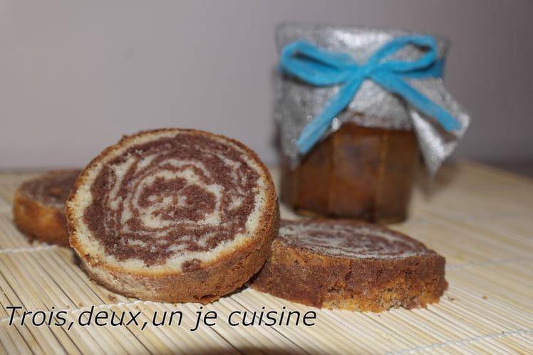 Cakes marbrés en bocaux