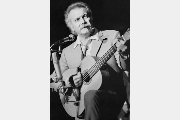 Georges Brassens en concert à Bobino en 1972