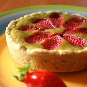tartelettes pistachées à la fraise gariguette