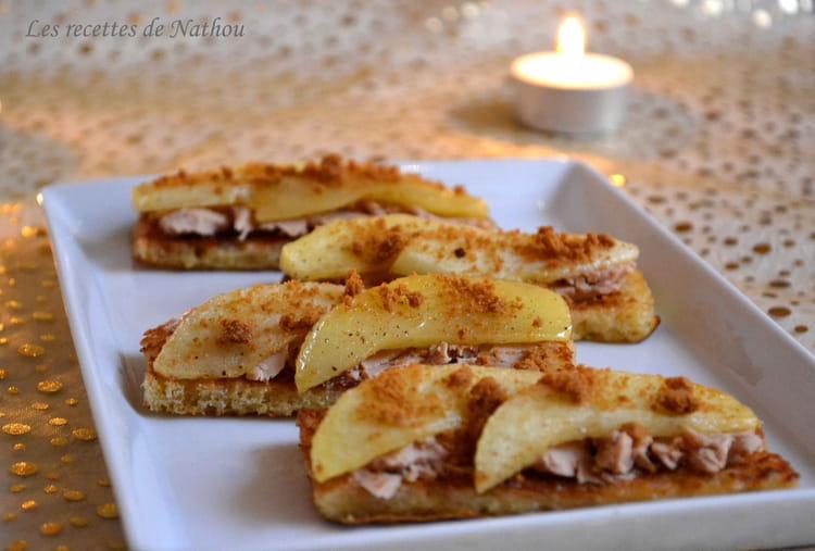 recette de toasts de perdu au foie gras pomme et sp 233 culoos la recette facile