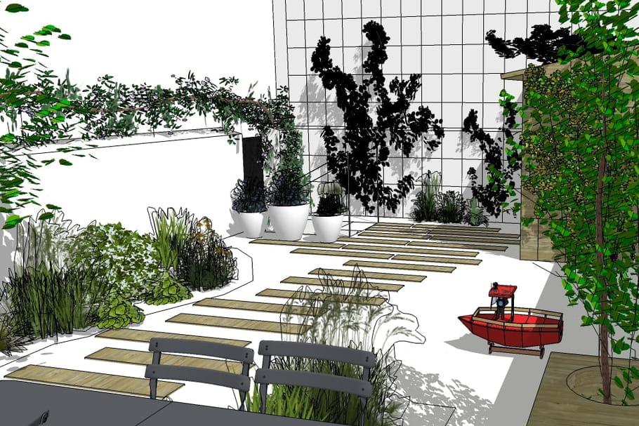 J\'aménage un jardin sur mon toit