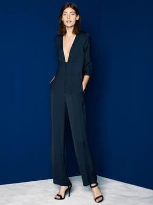 combinaison pantalon femme noire zara