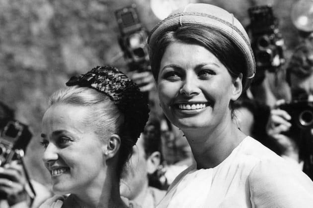 Jeanne Moreau et Sophia Loren