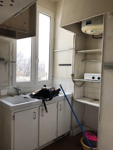 Avant: une petite cuisine délabrée