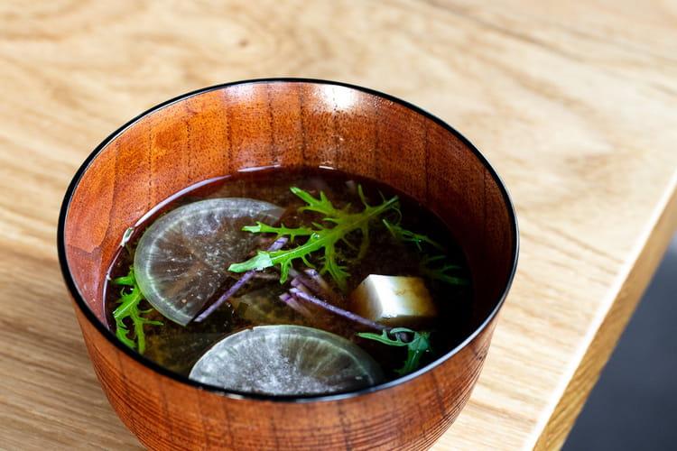 Soupe miso veggie par Julien Lemarié