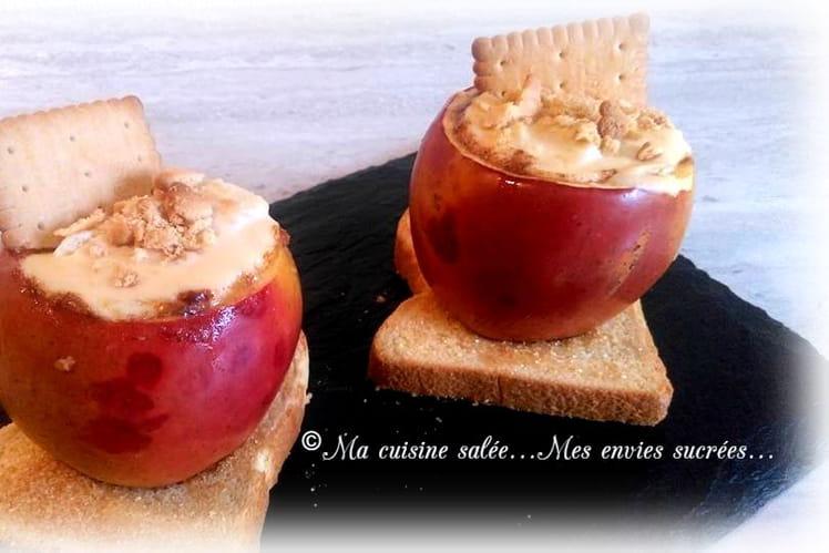 Pommes au coeur de cheesecake