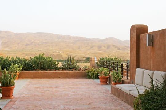 Ambiance lounge dans le désert