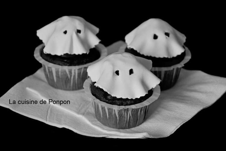 Cupcakes fantômes d'Halloween