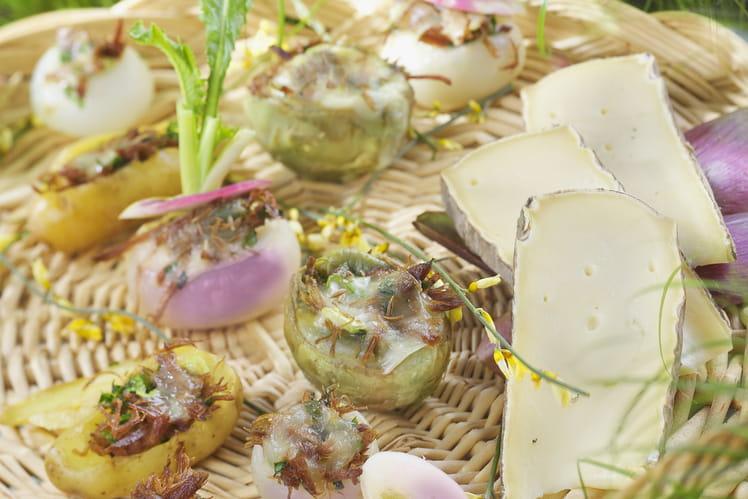 Petits legumes farcis au Saint-Nectaire