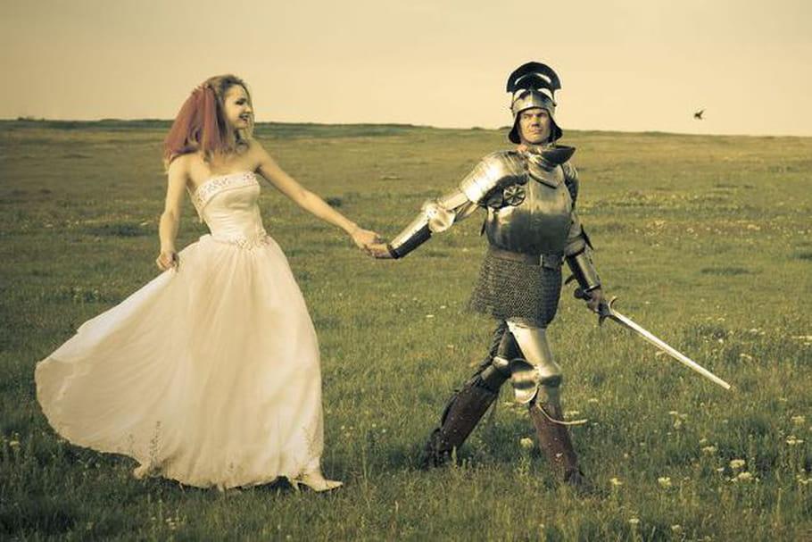Le thème de l'histoire pour un mariage d'un autre temps