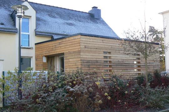 Maison extension bois
