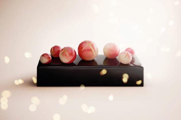 La bûche Grelot chocolat de Pierre Marcolini