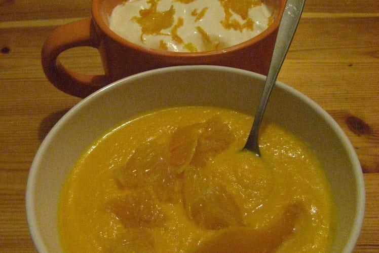 Soupe de carotte à l'orange