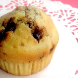 muffins aux noix et chocolat au lait au caramel
