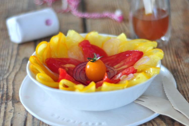 Carpaccio de tomates et vinaigre mangue vanille