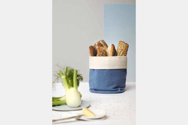 Panier en tissu en guise de corbeille à pain La Cerise sur le Gâteau