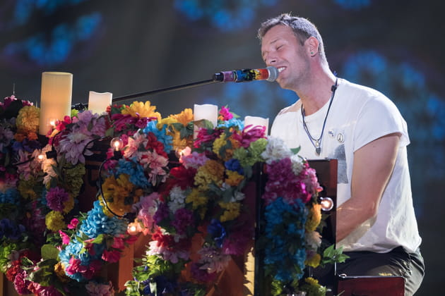 Chris Martin, au piano