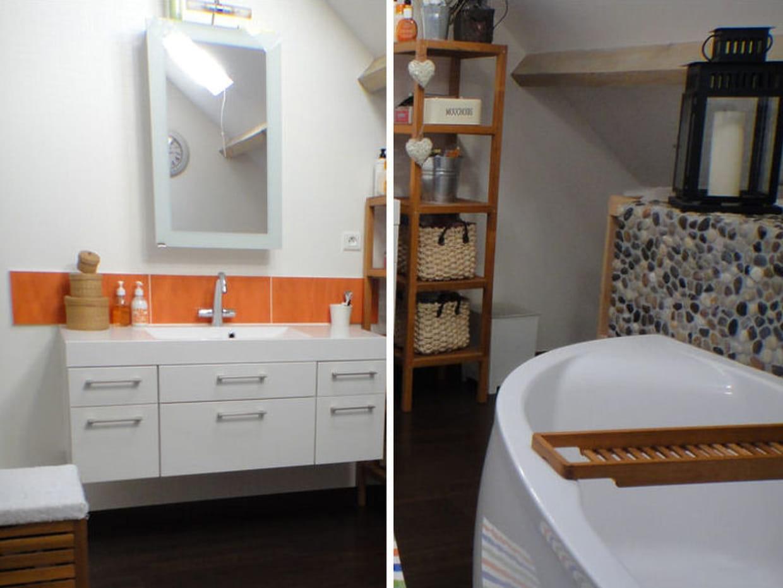 une salle de bains color e. Black Bedroom Furniture Sets. Home Design Ideas