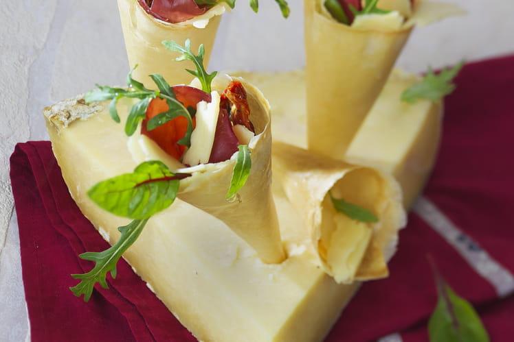 Salade italienne en cornet au Salers