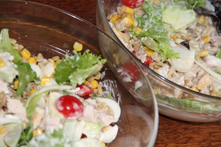 Salade complète au blé