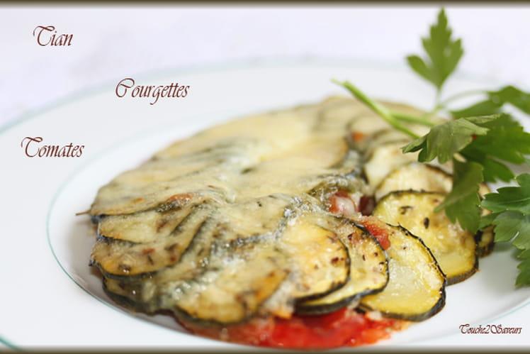 Tian courgette, tomate et mozzarella