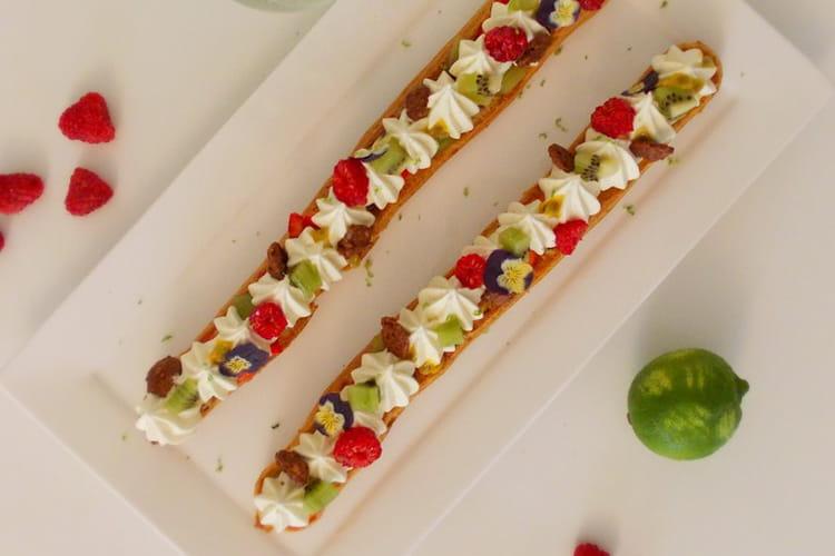 Eclairs géants vanille et fruits acidulés