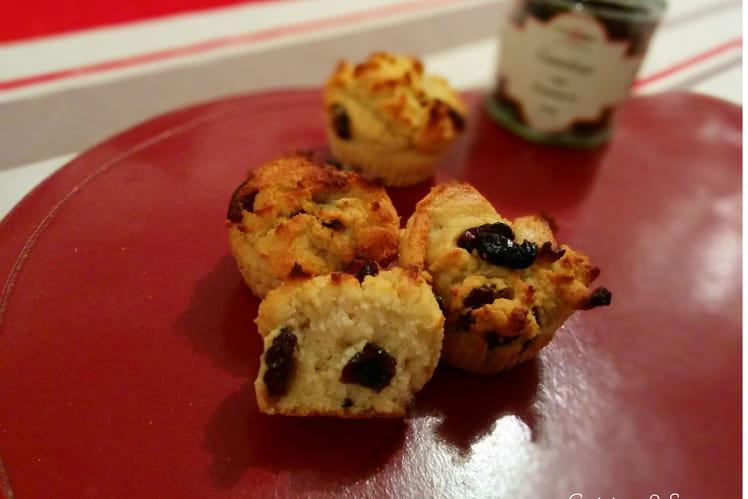 Muffins aux canneberges façon rocher
