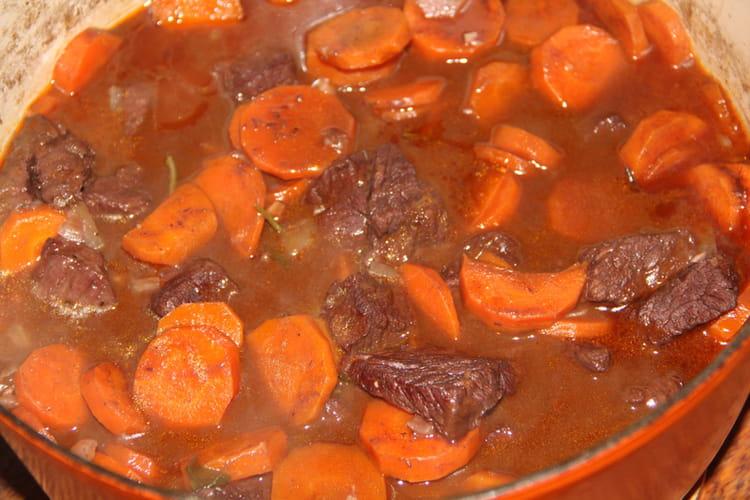 Boeuf moelleux aux carottes