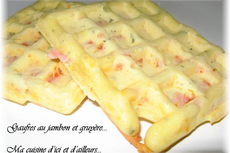 Gaufres au jambon et gruyère