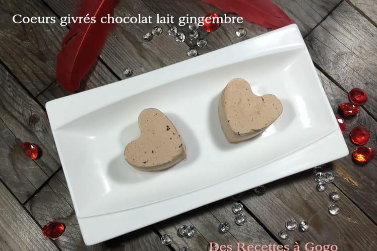 Coeurs givrés chocolat lait gingembre