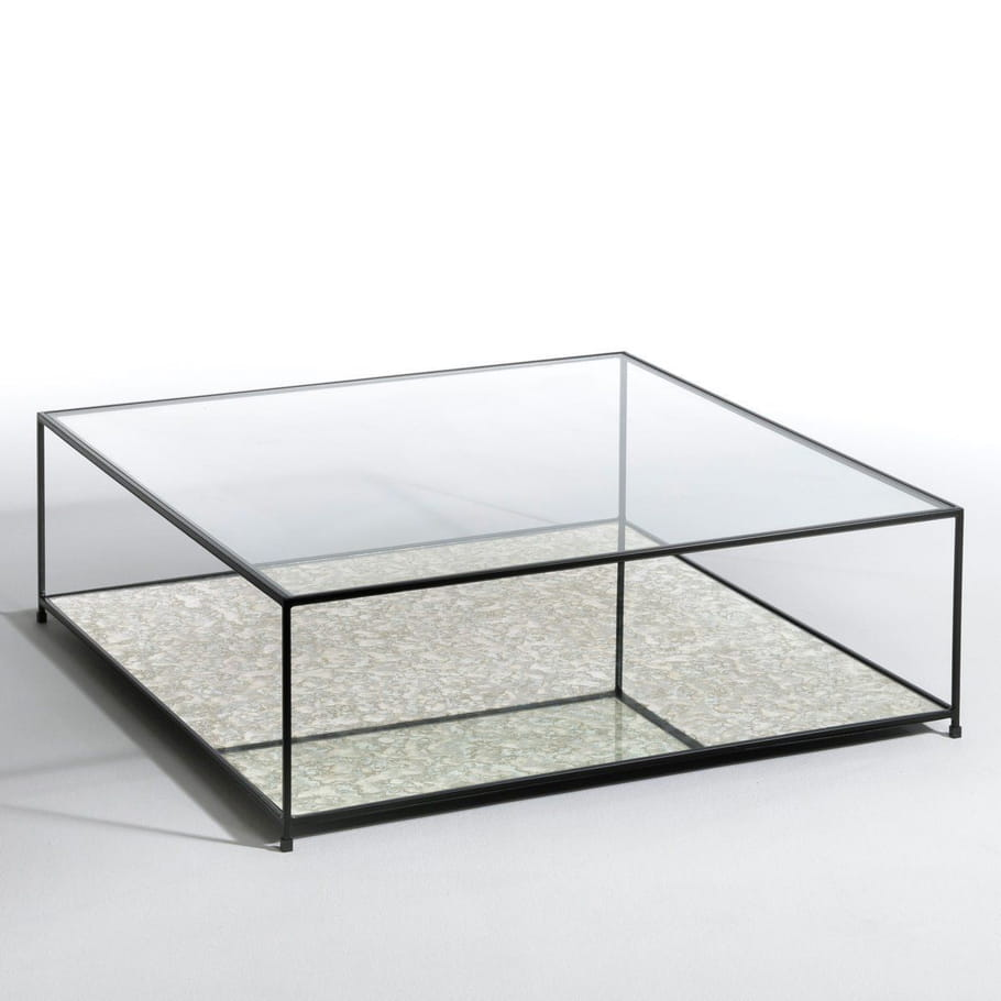 une table basse transparente pour le salon une table. Black Bedroom Furniture Sets. Home Design Ideas