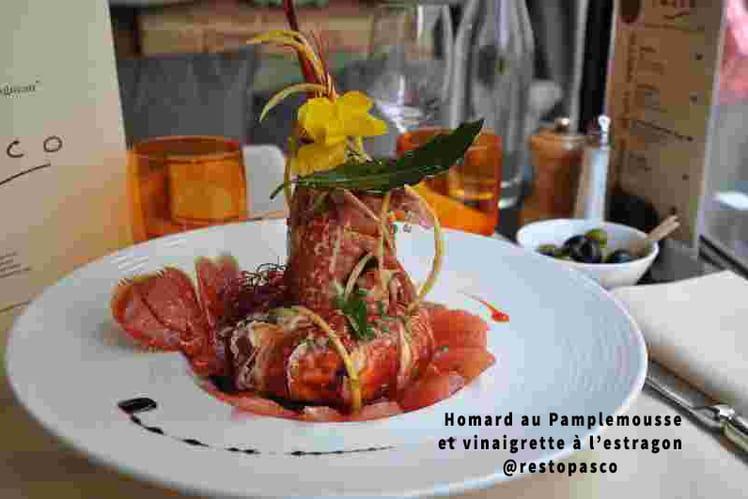 Homard au Pamplemousse et vinaigrette à l'estragon