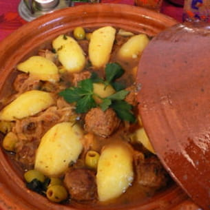 tajine de kefta aux citrons confits et aux olives