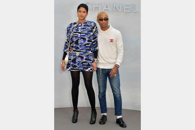 Helen Lasichanh et Pharrell Williams chez Chanel