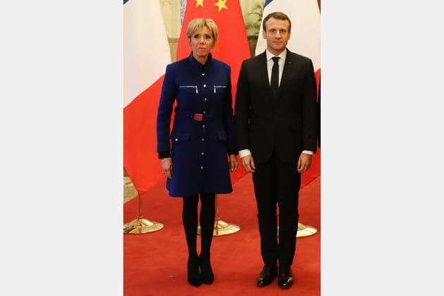 Brigitte Macron le 9janvier 2018