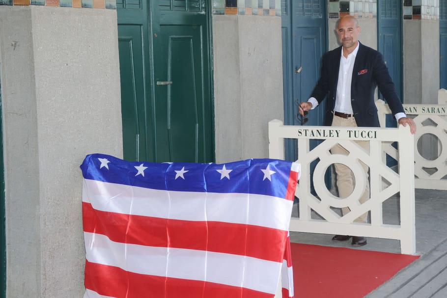 Stanley Tucci, honoré à Deauville devant des festivaliers ravis