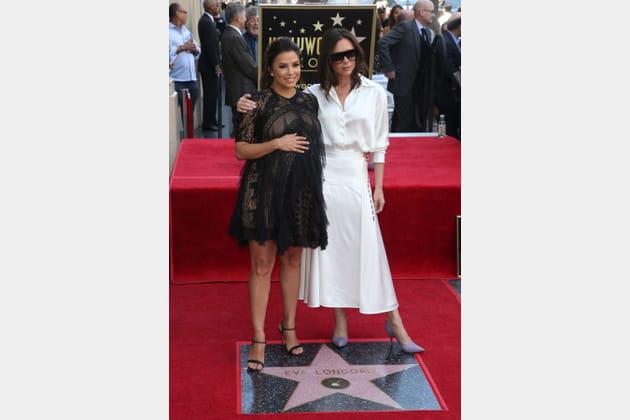 Avec Victoria Beckham