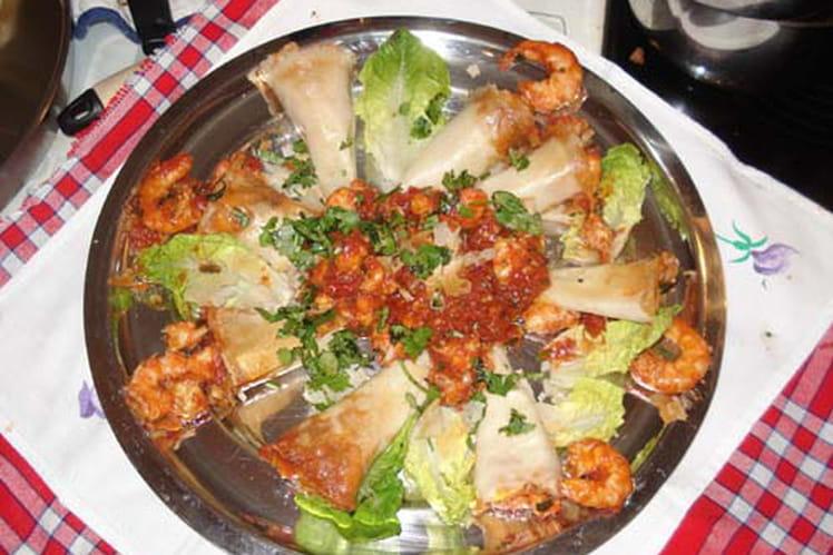 Cornet de crevettes
