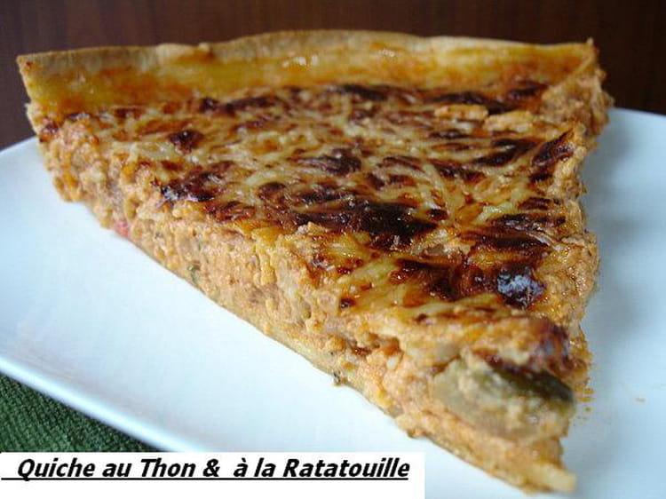 Recette De Quiche Au Thon Et A La Ratatouille La Recette Facile